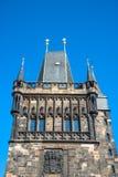 Stary Grodzki Charles Karluv najwięcej Bridżowy wierza wysklepiał bramę w Pr Zdjęcie Stock