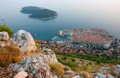 Stary Grodzki Dubrovnik panoramiczny widok zdjęcie royalty free