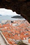 Stary grodzki Dubrovnik w zima sezonie Obrazy Stock