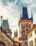 Stary Grodzki Mala Strana mosta wierza Prague Zdjęcia Royalty Free