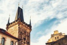 Stary Grodzki Mala Strana mosta wierza Prague Obrazy Royalty Free