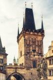 Stary Grodzki Mala Strana mosta wierza Prague Zdjęcia Stock
