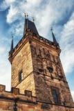 Stary Grodzki Mala Strana mosta wierza Prague Zdjęcie Stock