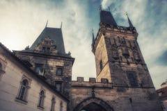 Stary Grodzki Mala Strana mosta wierza Prague Obraz Stock