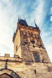 Stary Grodzki Mala Strana mosta wierza Prague Fotografia Royalty Free
