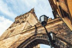 Stary Grodzki Mala Strana mosta wierza Prague Obraz Royalty Free