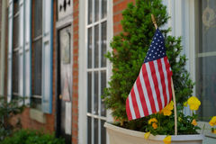 Stary grodzki Philadelphia kolonista stwarza ognisko domowe fotografia stock
