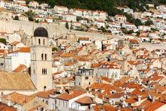 Stary grodzki przegląd Dubrovnik Croatia obraz royalty free