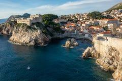 Stary grodzki przegląd Dubrovnik Croatia obrazy stock