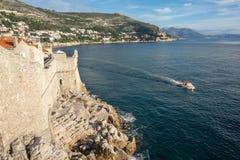 Stary grodzki przegląd Dubrovnik Croatia zdjęcie stock