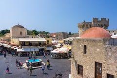 Stary Grodzki Rhodes Grecja Fotografia Stock