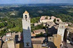 Stary grodzki San Gimignano, Włochy obraz royalty free