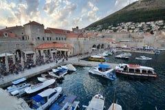 Stary grodzki schronienie przy zmierzchem dubrovnik Chorwacja Fotografia Royalty Free