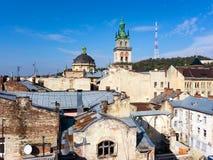 Stary Grodzki widok, Lviv Zdjęcia Royalty Free