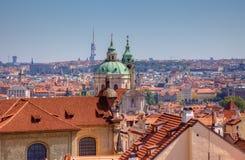 Stary grodzki widok w Praga, czech obraz royalty free