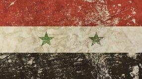 Stary grunge rocznik blakł Syryjskiej Arabskiej republiki flaga Zdjęcie Royalty Free