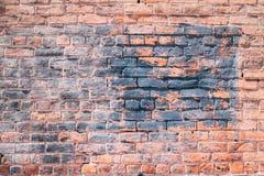 Stary grungy czerwony ściany z cegieł tło fotografia stock