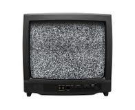 stary hałasu retro tv Obraz Royalty Free