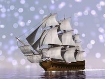 Stary handlowy statek - 3D odpłacają się royalty ilustracja