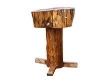 Stary handmade stolec krzesło na bielu Fotografia Royalty Free