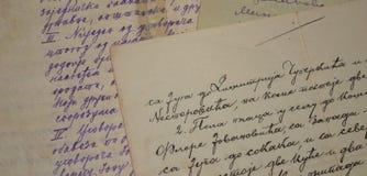 Stary handwriting obrazy stock