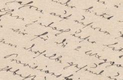 Stary handwriting Obraz Stock