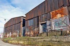 Stary hangar Obraz Royalty Free