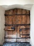 Stary hasłowy drzwi w Nauders, Austria Zdjęcie Royalty Free