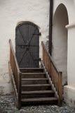 Stary hasłowy drzwi w Nauders, Austria Obraz Royalty Free