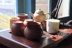 Stary herbata set obraz stock