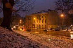 Stary historyczny budynek w starym miasteczku Zdjęcie Royalty Free