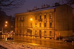 Stary historyczny budynek w starym miasteczku Budynek zawiera booksho Fotografia Royalty Free