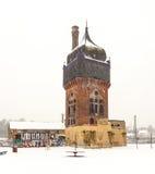 Stary historyczny Watertower przy dworcem w Wiesbaden Obraz Stock