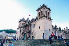 Stary Hiszpański kościół w Cusco zdjęcie stock