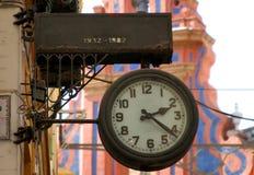 stary hiszpański zegar Obraz Royalty Free