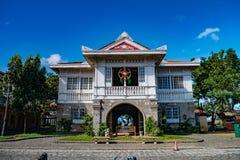 Stary hiszpańszczyzna dom, lasów casas filipinas de acuzar, Filipiny fotografia royalty free