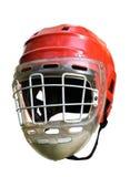 Stary hokejowy hełm Fotografia Royalty Free
