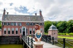 Stary holenderski dwór Menkemaborg Zdjęcia Royalty Free