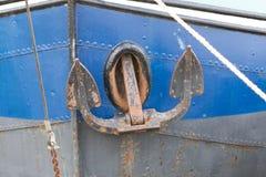Stary holenderski statek z kotwicą Obrazy Royalty Free