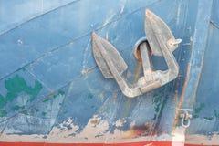 Stary holenderski statek z kotwicą Zdjęcie Royalty Free