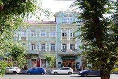 Stary hotel w Samara mieście fotografia stock