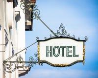 Stary hotelu znak obrazy stock