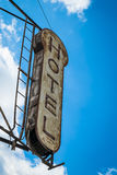 Stary hotelu znak Obraz Stock