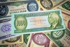 Stary hungarian pieniądze obraz stock