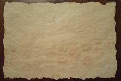 Stary i brudny papier Zdjęcie Stock