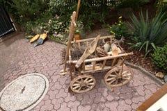 Stary i Historyczny handcart zdjęcia stock