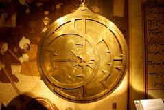 Stary i jaskrawy astrolabium Zdjęcie Royalty Free