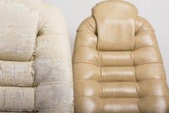 Stary i Nowy Crannied Biurowy szefa krzesło (karło) R stary uph Zdjęcie Stock