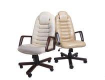 Stary i Nowy Crannied Biurowy szefa krzesło przedtem i aft (karło) Fotografia Stock