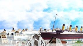 Stary i nowy Jeddah nad chmurą ilustracja wektor